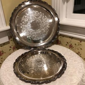 Oneida Silver Plated Plates Georgian Scroll